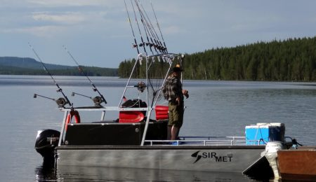 Fishing experiences of a lifetime on the Arctic Circle Lake Miekojärvi in Lapland