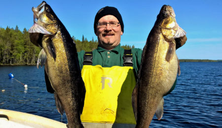 Fifth generation professional fishermen on Lake Miekojärvi in Finland