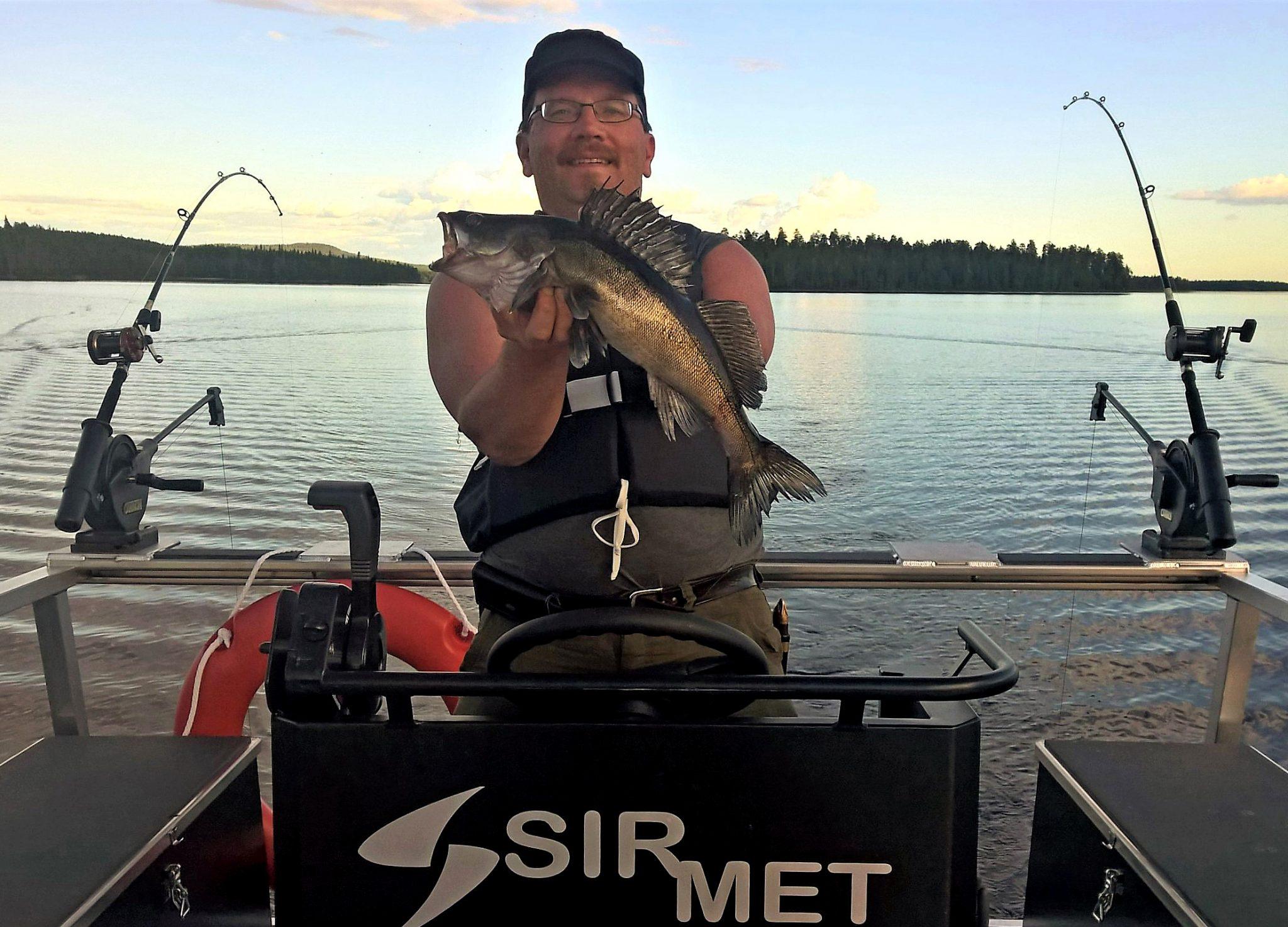 Jouko sirkkala of lapland wild fish presents a zander for Fish s wild